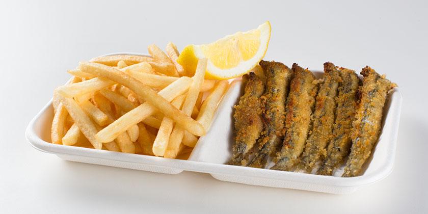Ristorante Self Service PesceAzzurro - grigliata azzurra con patate fritte