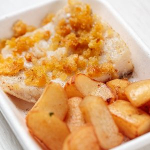 merluzzo con patate arrosto