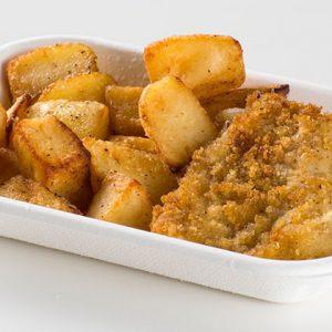 Ristorante Self Service PesceAzzurro - filetto dorato con patate al forno