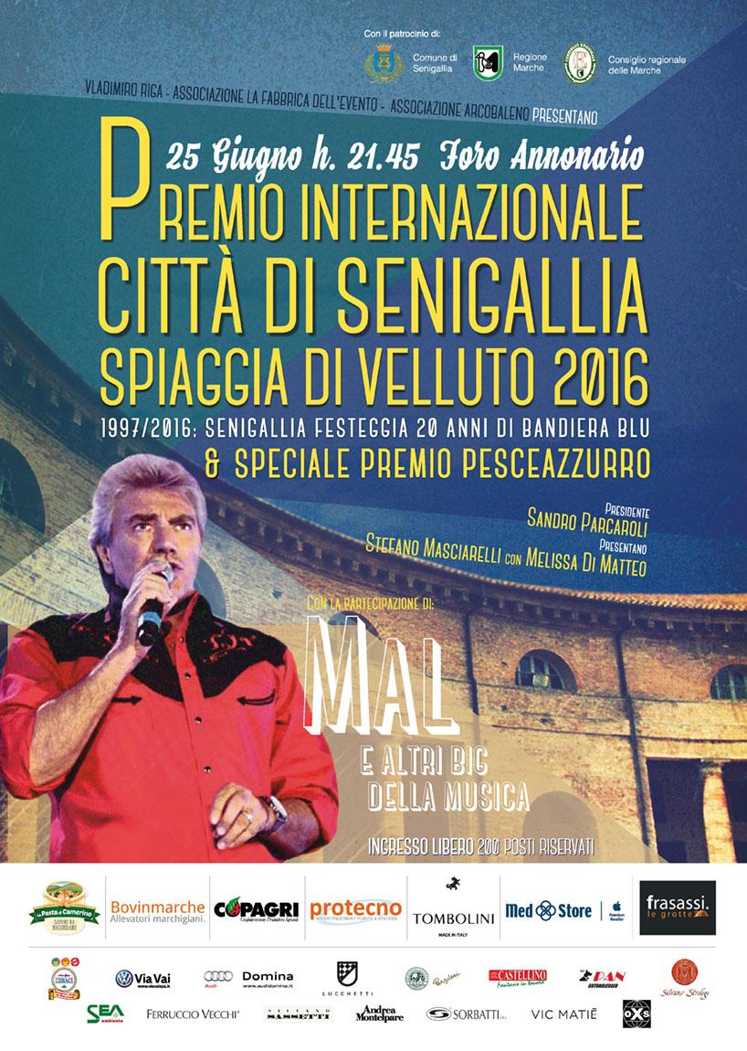 Premio Internazionale Citta di Senigallia Spiaggia di Velluto e Speciale Premio PesceAzzurro 2016